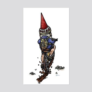 Dirty Little Mountain Biker Gnome Sticker (Rectang